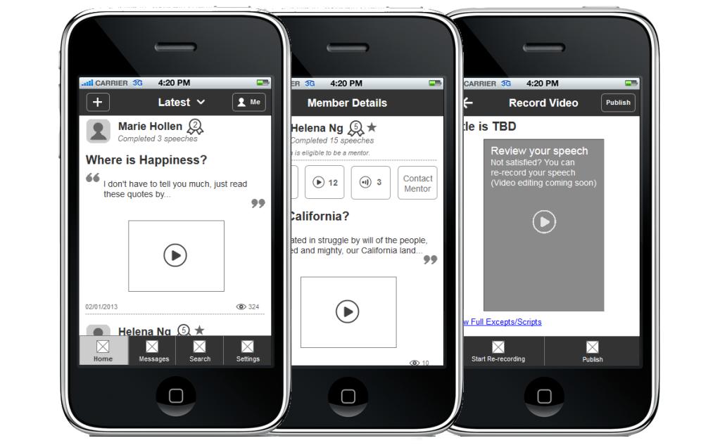 BetterSpeech Mobile App Prototype