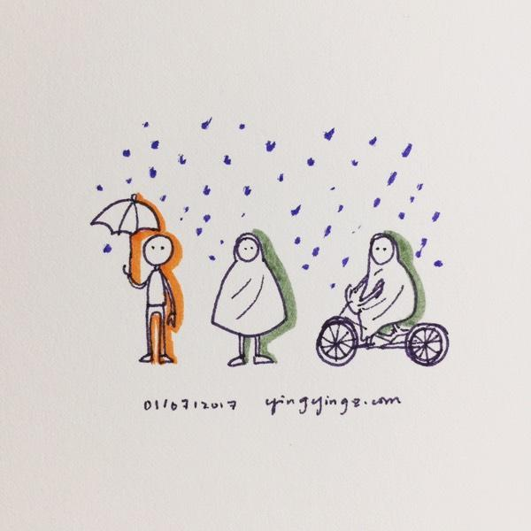 bike with raincoat
