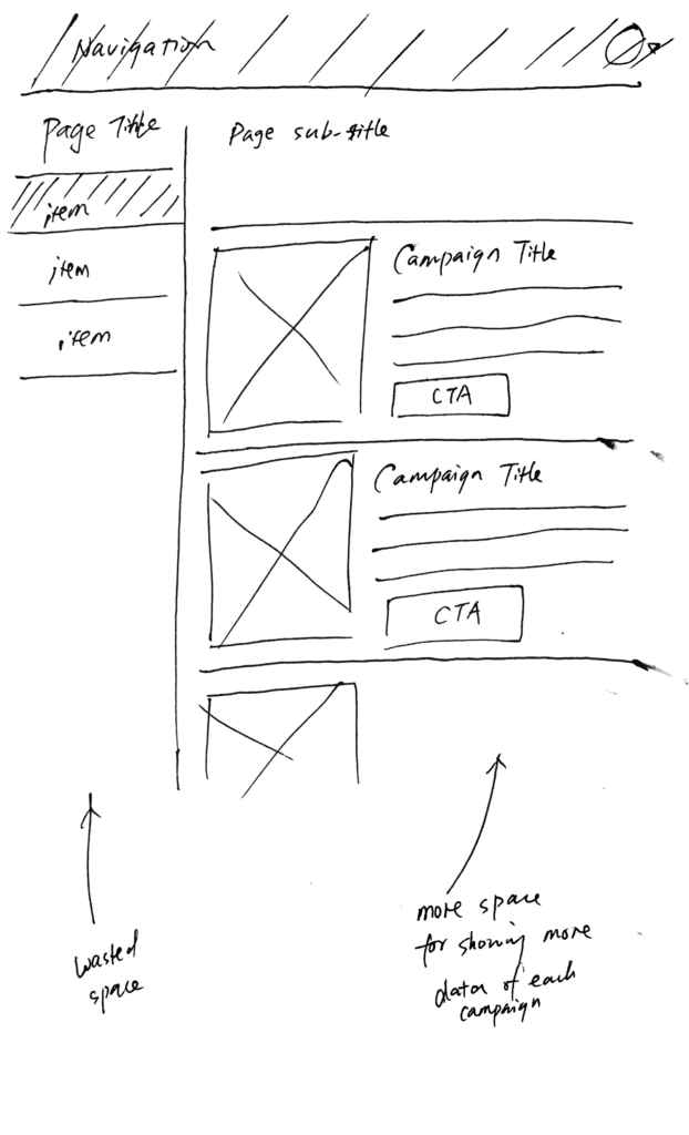 Homepage Sketches