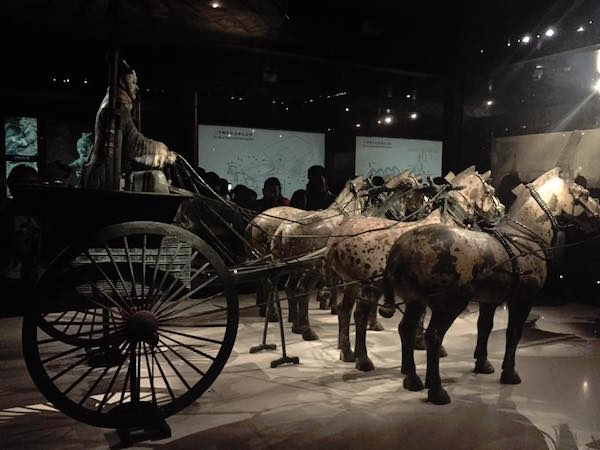 terra cotta warriors and horses
